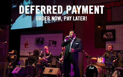 Deferred payment. Order now, pay later!